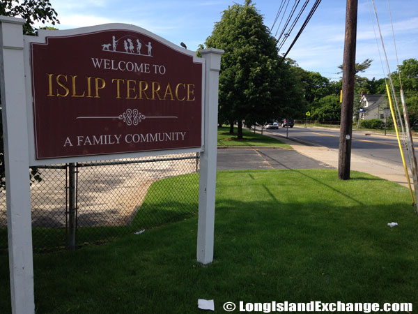 Islip Terrace Welcome Sign