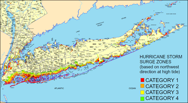 Long Island Flooding Zones