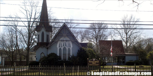 The Emmanuel Episcopal Church, a historical landmark and the only house of worship in Great River.