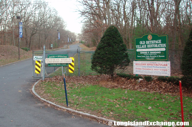 Old Bethpage consist of parks and undeveloped property, including Bethpage State Park, the Old Bethpage Village Restoration and Battle Row Campground.
