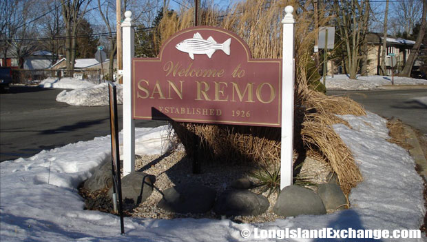 San Remo is a large neighborhood development located on the northern side of Smithtown, on Long Island, in Suffolk County, New York.