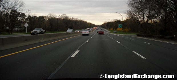 Southern State Parkway heading west at #36 exit straight path