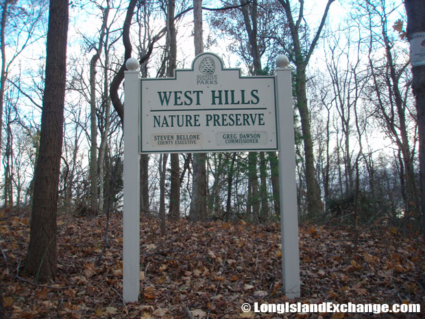 West Hills County Park is an 855-acre tract that comprises forested hills and valleys as well as stables, picnic, and campgrounds.