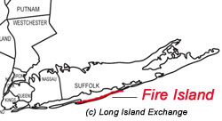 Saltaire, Fire Island Map