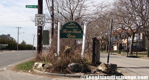 Atlantic Beach Estates Welcome Sign
