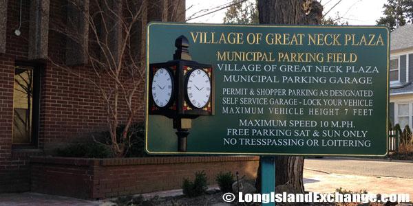 Great Neck Plaza Village Parking Rules