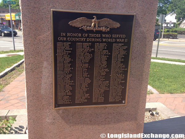 Memorial in honor of those who served during World War 2