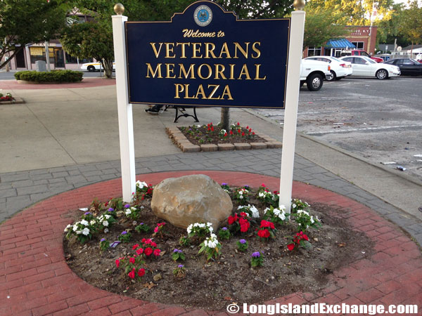 Veteran's Memorial Plaza Sign