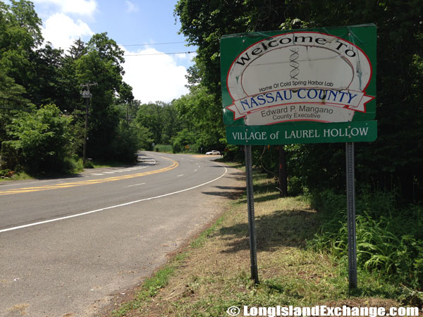 Nassau County and Laurel Hollow Sign