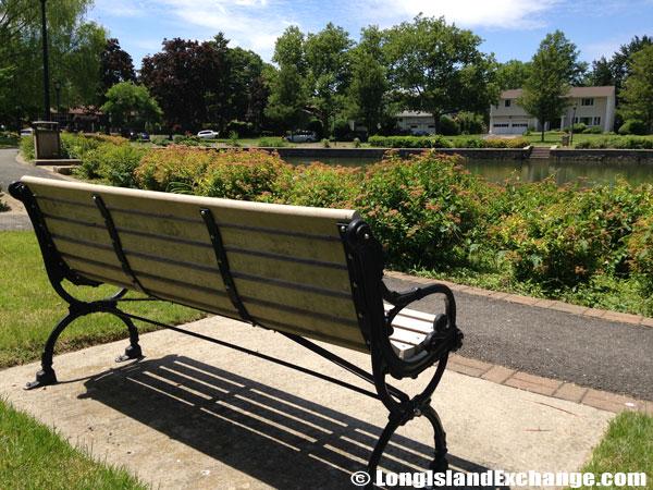 Searingtown Pond Park Bench
