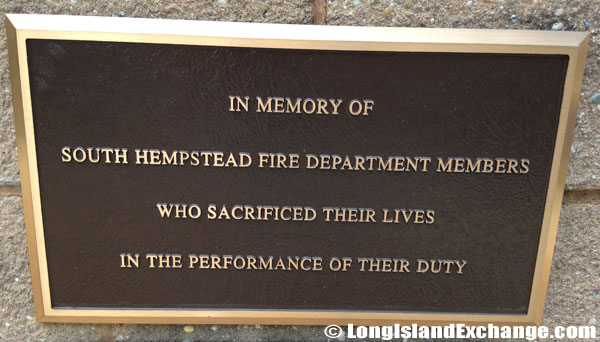 Memorial at South Hempstead Fire Department