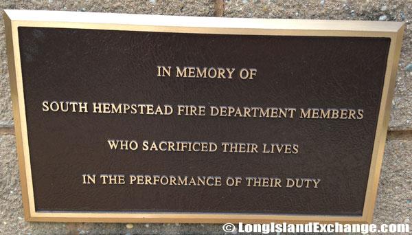 Memorial at South Hempstead Fire Department