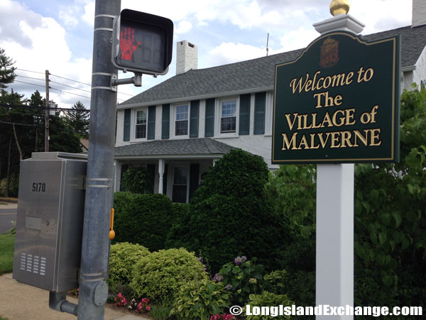 Malverne Welcome Sign