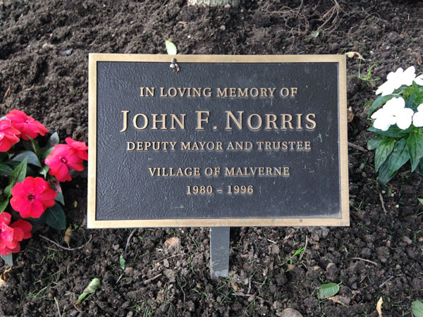 Deputy Mayor John F. Norris Memorial