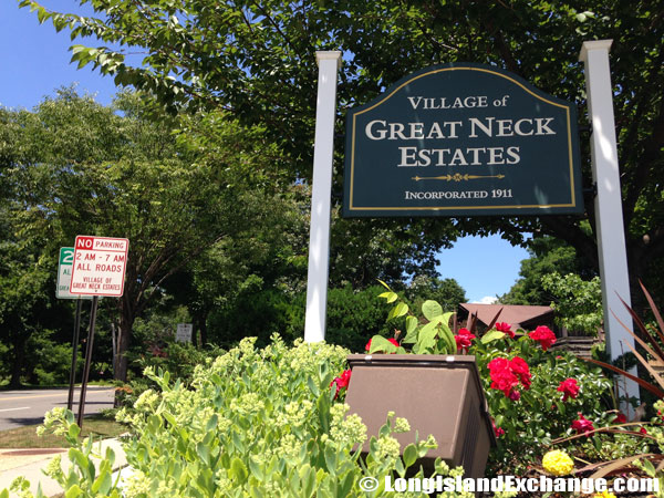 Great Neck Estates Welcome Sign