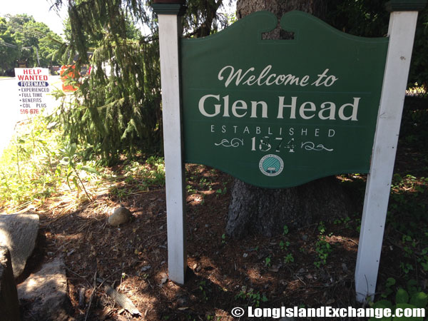 Glen Head Welcome Sign