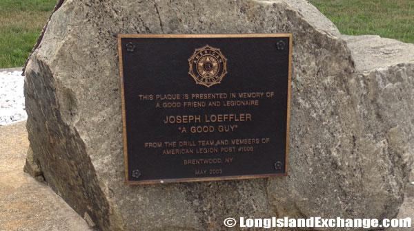 Joseph Loeffler Memorial Plaque