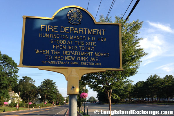 Huntington Manor Fire Department Historical Marker