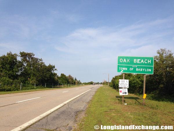 Oak Beach Sign
