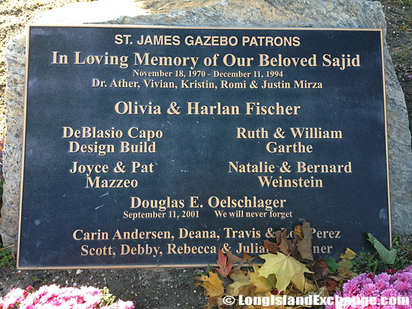 Gazebo Plaque