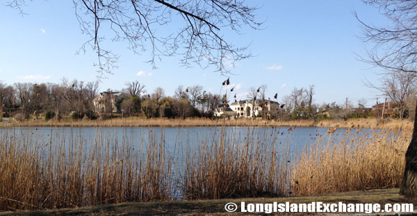 Kings Point Mansion Across Pond
