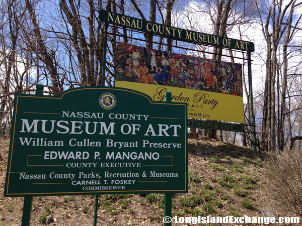 Nassau County Museum of Art Welcome Sign