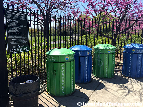 Trash and Recycling Cans