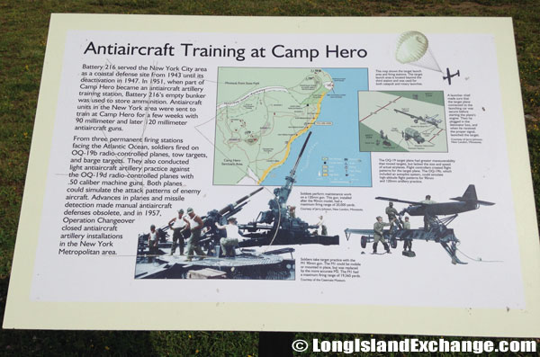 Anti-Aircraft Training at Camp Hero