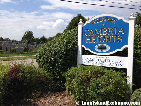 Cambria Heights Civic Association Sign