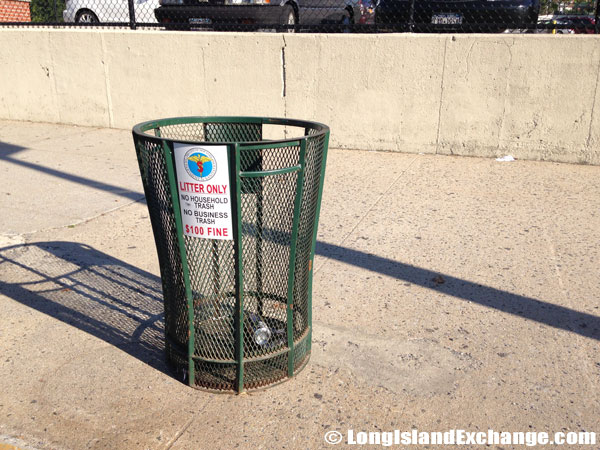 Northern Boulevard Trash Can