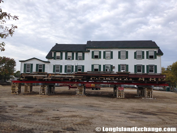 La Grange Inn Lifted and Moved