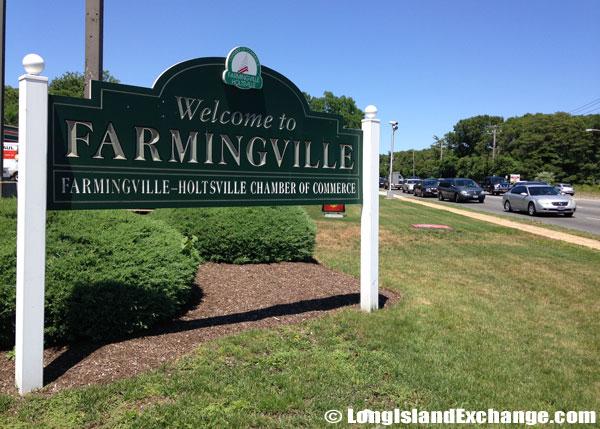 Farmingville Welcome Sign