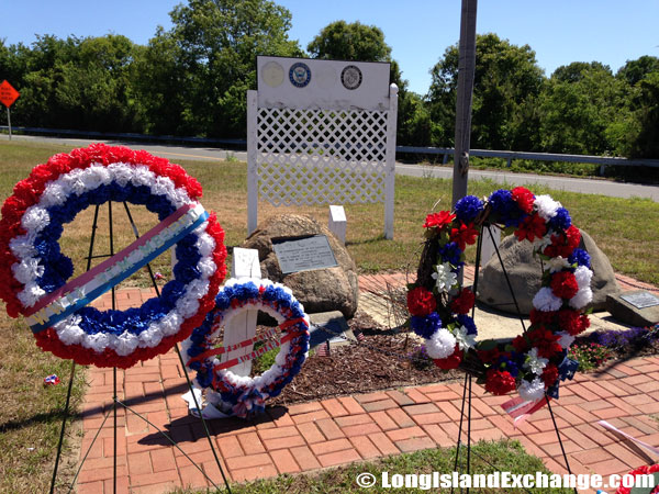 Patriotic Flower Wreaths of Red, White and Blue Flowers