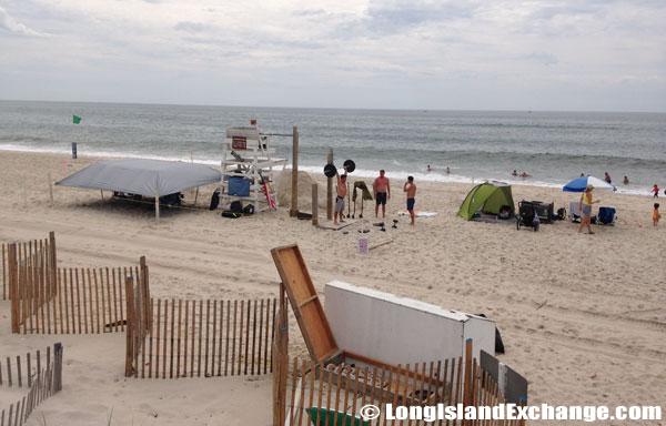 Beach Weight Lifting