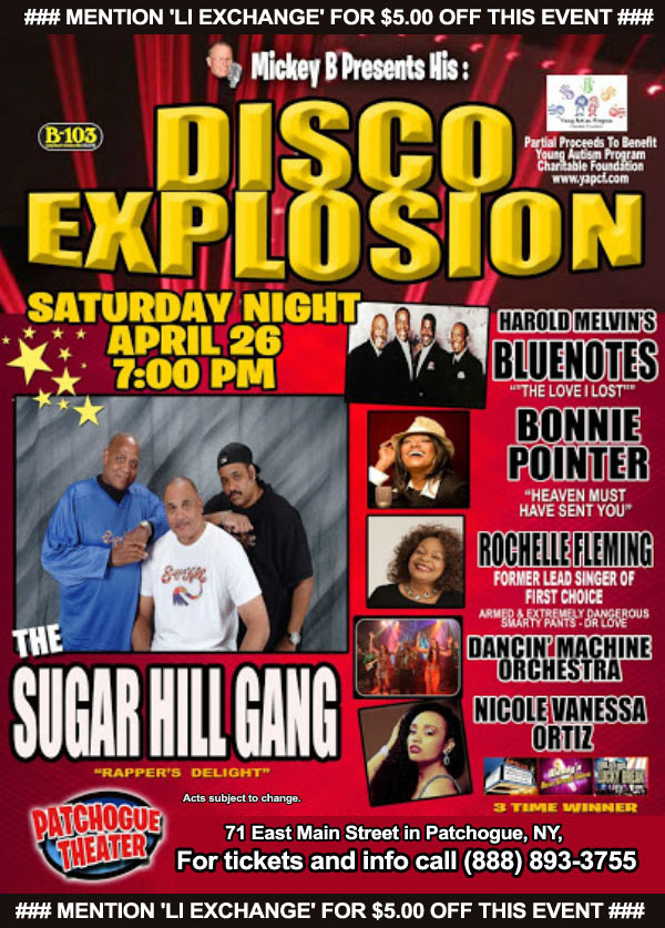 Mickey B's Disco Explosion @ Patchogue Theatre | Patchogue | New York | United States