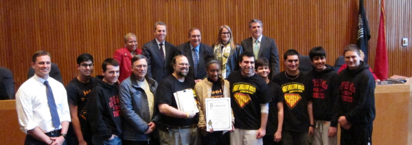 Councilwoman Berland Honors The ThunderColts
