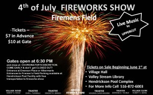 Fireworks at Valley Stream Village Hall @ Valley Stream Village Hall