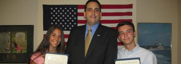 Lupinacci Honors Connor Lynn and Isabella Molinari