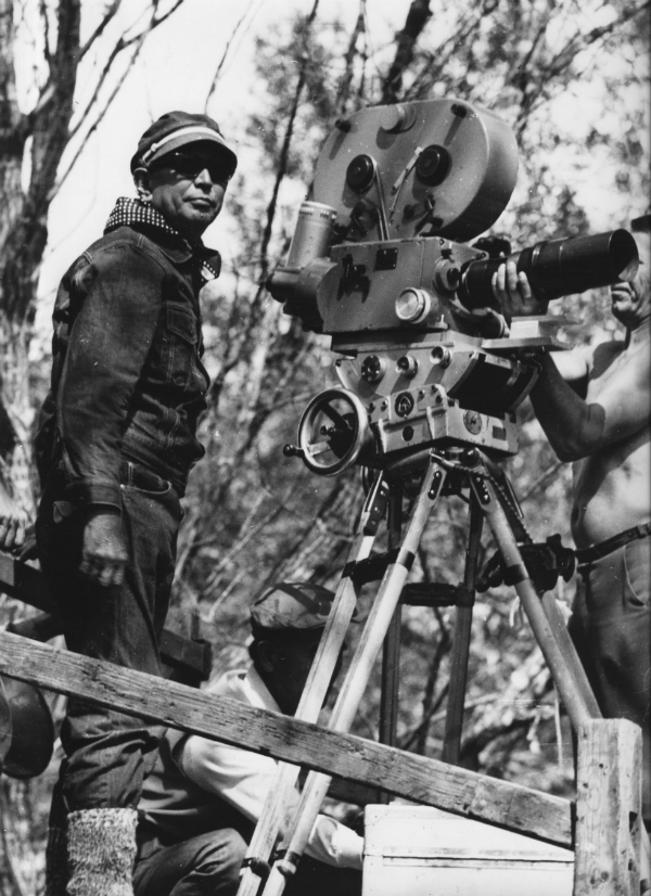 Akira Kurosawa shooting Dersu Uzala credit Kino Lorber Inc