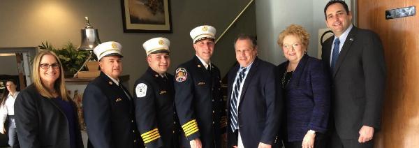 Lupinacci Congratulates Dix Hills FD Officers At I