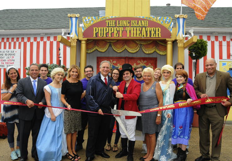 Mangano Celebrates Grand Re Opening Of The Long Island Puppet Theater